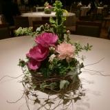 トークショーテーブル装花