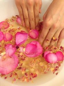 バラのハーブ手浴